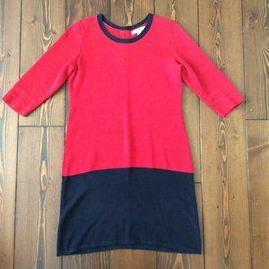Banana Republic M 100% Cotton Colourblock Sweater Dress